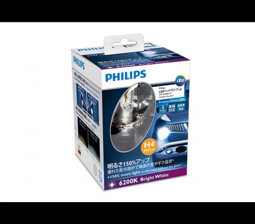 h4 12953bwx2 philips x treme ultinon led headlight bulb. Black Bedroom Furniture Sets. Home Design Ideas